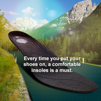 Every time you put your shoes on, a comfortable insoles is a must.